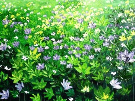 Bunga Liar 1, Oil on canvas, 100cmX100cm, 2010, Darmadi