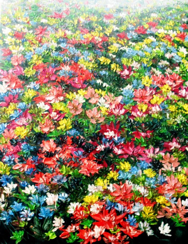 Bunga Liar 4, oil on canvas, 70cmX90cm, 2010, Darma lungit