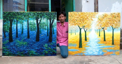 Dar's two new look paintings